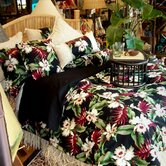 Orchids Black Comforter