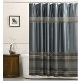 Mark Fabric Chenille Shower Curtain in Blue