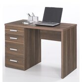 Function Plus Four Drawer Desk in Dark Walnut