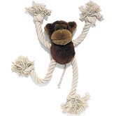 Moppets Plush and Rope Monkey Dog Toy