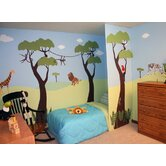Wild Jungle Safari Self-Adhesive Wall Stencil Kit