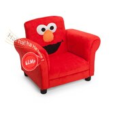 Sesame Street Elmo Giggle Upholstered Chair with Sound