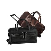 25.75&quot; Leather Metro Cabin 2-Wheeled Travel Duffel