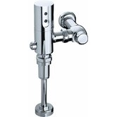 Touchless DC 1.0 GPF Siphon Jet Urinal Flushometer in Polished Chrome