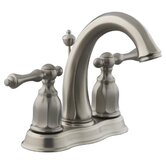 Kelston Centerset Bathroom Faucet with Double Lever Handles
