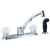 Two Handle Centerset Touch Control Kitchen Faucet with Black Side Spray