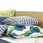 "Graphic Traffic Links 18"" Decorative Pillow in Indigo"