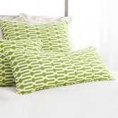 Graphic Traffic Links Double Boudoir Decorative Pillow in Key Lime