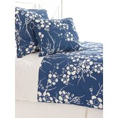 Kiyoko Duvet Cover and Sham in Indigo