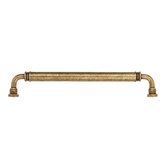 "Oversized Handle 12"" Smooth Brass Appliance Handle Pull in Dark Antique Brass"