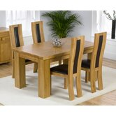 Barcelona Solid Oak Dining Table with Havana Chairs