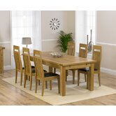 Rustique Classical Solid Oak Dining Table with Monte Carlo Dining Chairs
