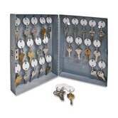 "Secure Key Cabinet, 10""x3""x12"", 28 Keys, Gray"