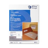 "Mailing Label, Laser, White, 1-1/3""x4"", 3500 per Pack"