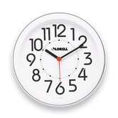 Round Profile Radio-Controlled Wall Clock, White