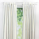 Lulu Storm Cotton Tab Top Curtain Single Panel