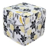Small Talk Blackbird Cube Ottoman
