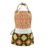 Oskar Terrace Persimmon and Illuminate Caribou Reversible Apron