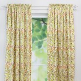 Findlay Apricot Linen Rod Pocket Curtain Panel