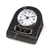 Clock Tower Deluxe Desktop Natural Marble Keepsake in Ebony and Black