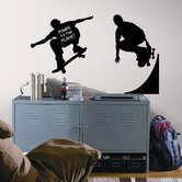 Skaters Chalkboard Peel and Stick Wall Decal