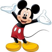 Licensed Designs Mickey Mouse Peel and Stick Giant Wall Decal