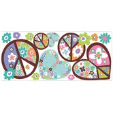 Heart and Peace Sign Wall Decal