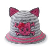 Baby Crochet Bucket with Cat Ears