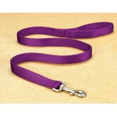 Double Thick Nylon Lead with Snap in Hot Purple