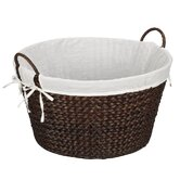 DO NOT SET LIVE!Banana Leaf Round Laundry Basket in Rich Burnished Brown