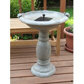 Country Gardens Solar Birdbath