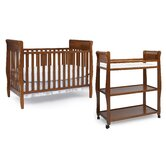 Sarah Classic Two Piece Convertible Crib Set in Cinnamon
