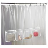 Three Pocket Shower Liner in Frosty Clear