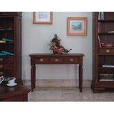 Vanessa Three Drawer Hall Table in Mahogany