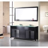 Waterfall 72&quot; Double Sink Vanity Set
