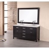 "London 61"" Double Sink Vanity Set"