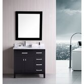 "London 36"" Modern Bathroom Vanity"