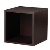 Modular Storage Open Cube in Espresso
