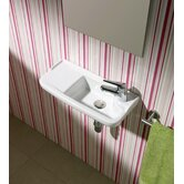 Universal Oxigen Wall Hung Ceramic Bathroom Sink in White