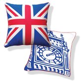 British Invasion Reversible Big Ben Pillow