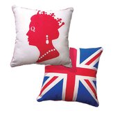 British Invasion Reversible Live Like A Queen Pillow