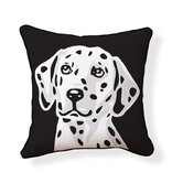 Dalmatian Double Sided Cotton Pillow