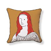 Monalisa Double Sided Cotton Pillow