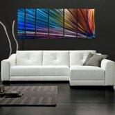 "Abstract by Ash Carl Metal Wall Art in Rainbow - 23.5"" x 60"""