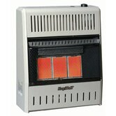 Three Plaque infrared Dual Fuel Wall Heater