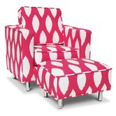 Ava Kid's Club Chair and Ottoman Set