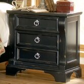 Heirloom Distressed 3 Drawer Nightstand