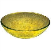 Amber Engraved Glass Vessel Sink