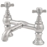 Double Handle Deck Mount Tub Only Faucet