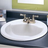 Cadet Round Countertop Sink with Colony Faucet